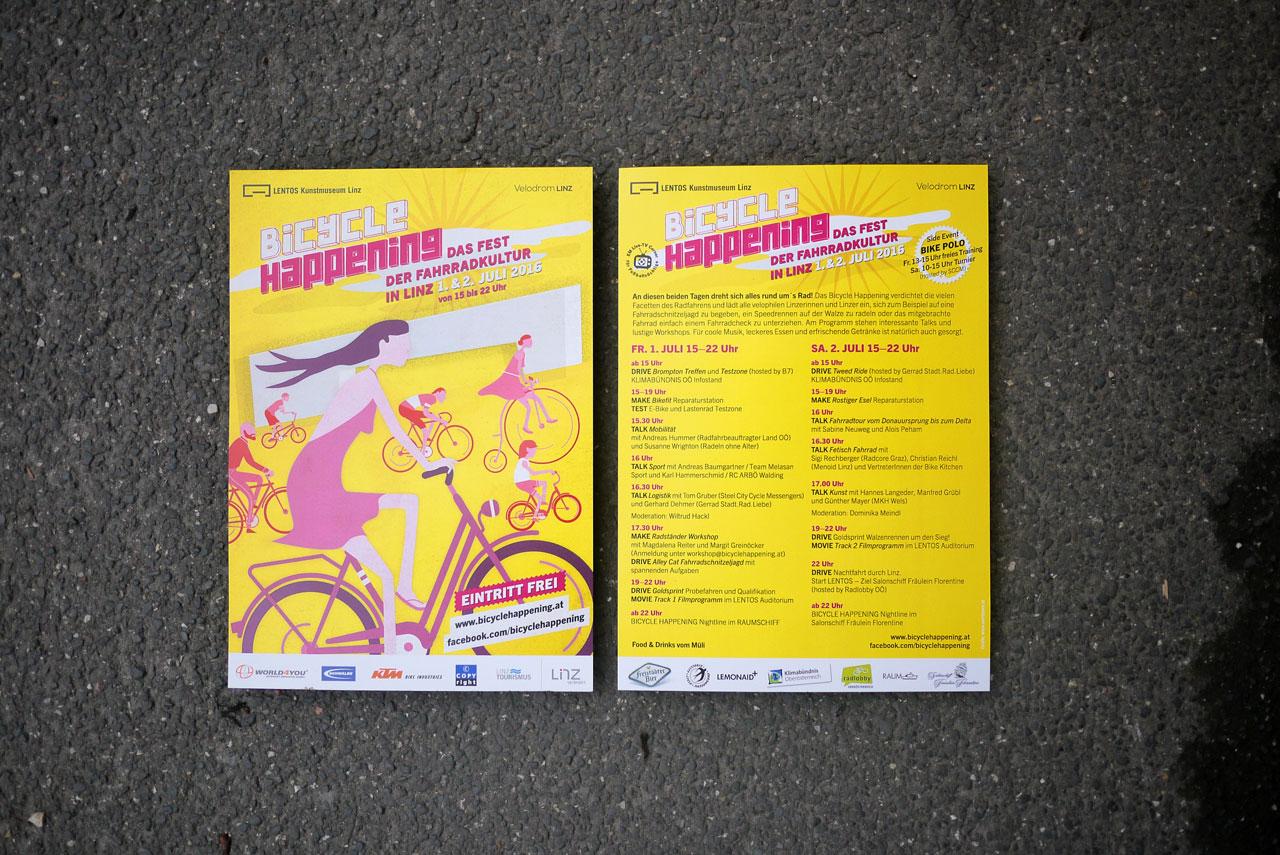 Bicycle Happening – Design Gestaltung Illustration © Martin Bruner Sombrero Design