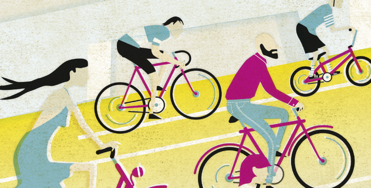 Bicycle Happening – Illustration © Martin Bruner Sombrero Design
