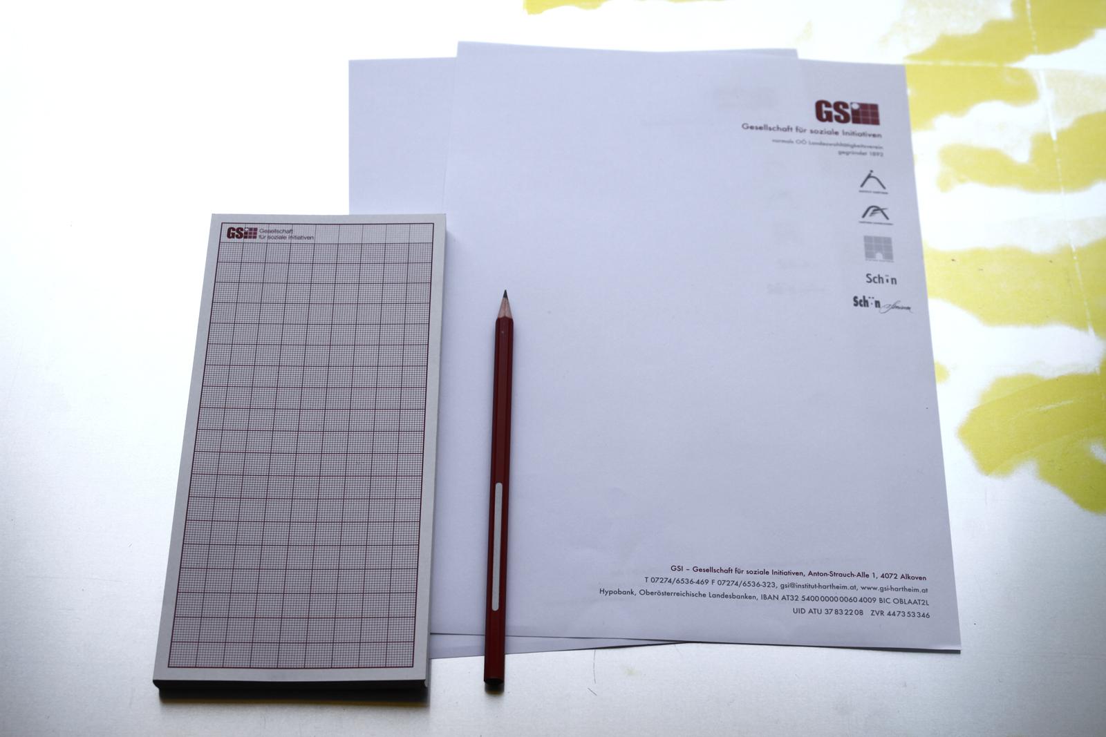GSI Geschaeftsdrucksorten – Gesellschaften für soziale Initiativen © Martin Bruner Sombrero Design