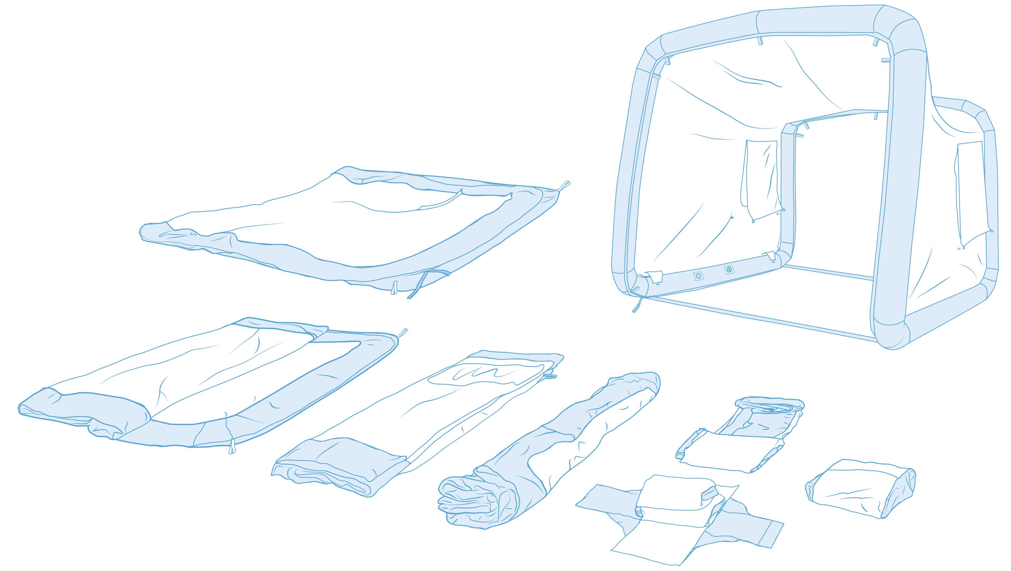 Gentle Tent – Aufbauanleitung _Illustration © Martin Bruner Sombrero Design