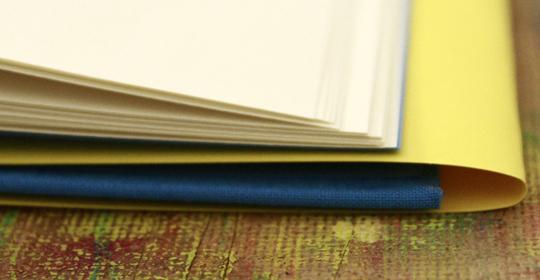 Selbstgebundenes Buch © Martin Bruner Sombrero Design