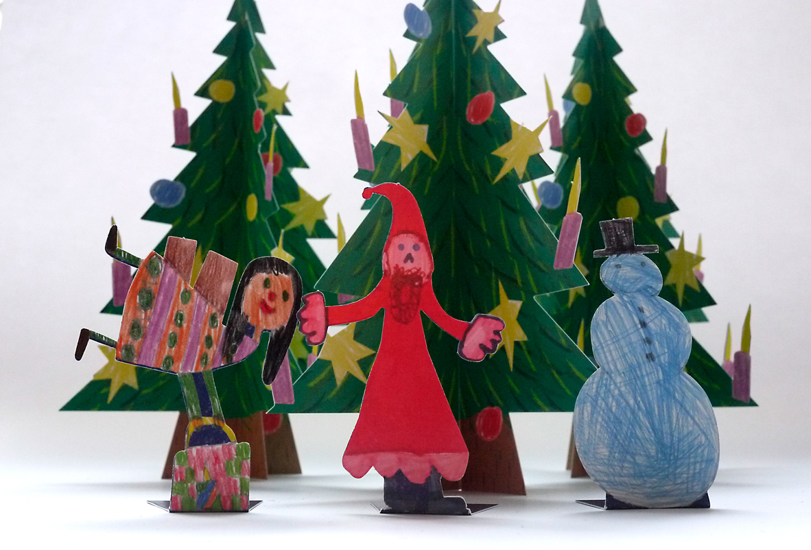 Weihnachts Bastelbeilage – Institut Hartheim Schnittmuster © Martin Bruner Sombrero Design