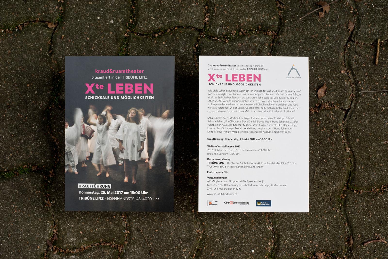 Das Xte Leben – Theaterstück – Kraut und Ruam – Institut Hartheim © Martin Bruner Sombrero Design