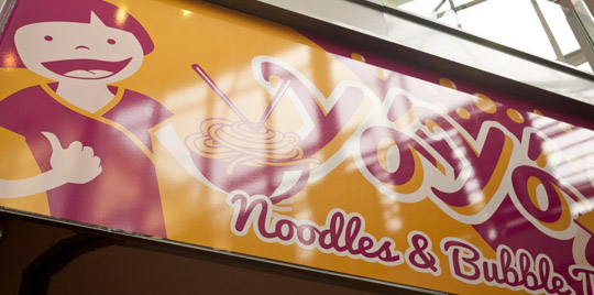 YoYo Noodles & Bubble Tea – Illustration © Martin Bruner Sombrero Design